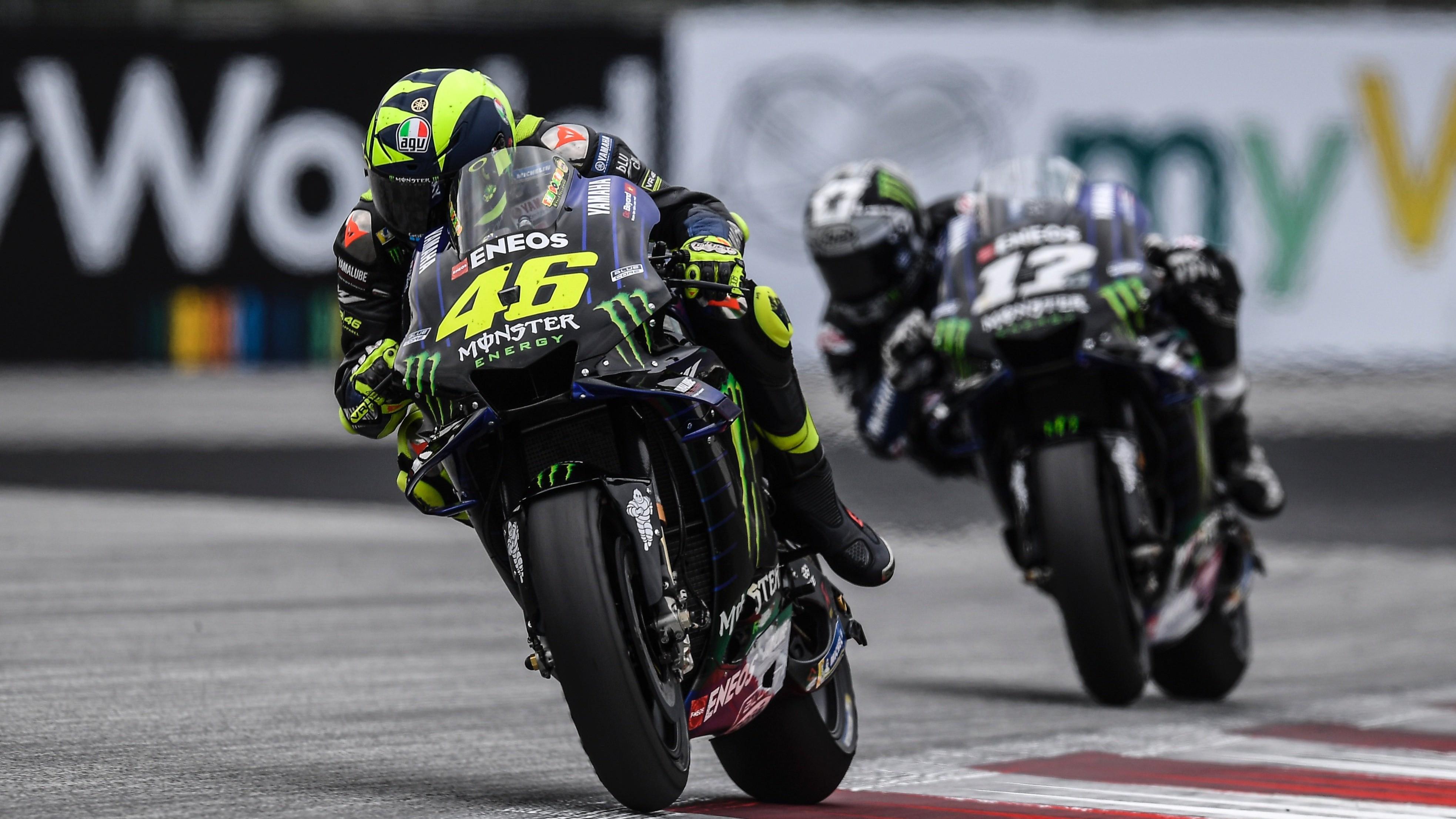 Pembalap Monster Yamaha, Valentino Rossi (depan)