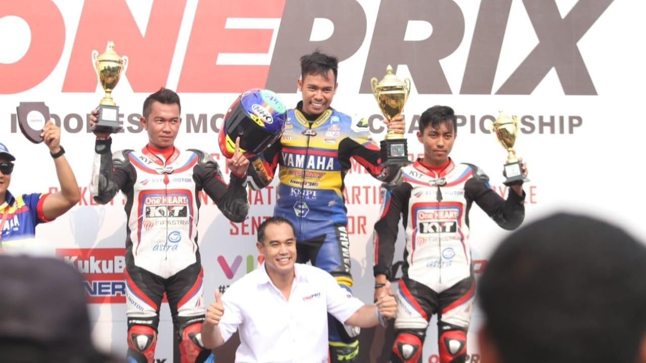 Reynaldi Pradana menangi race 1 kelas expert putaran 30 oneprix 2019