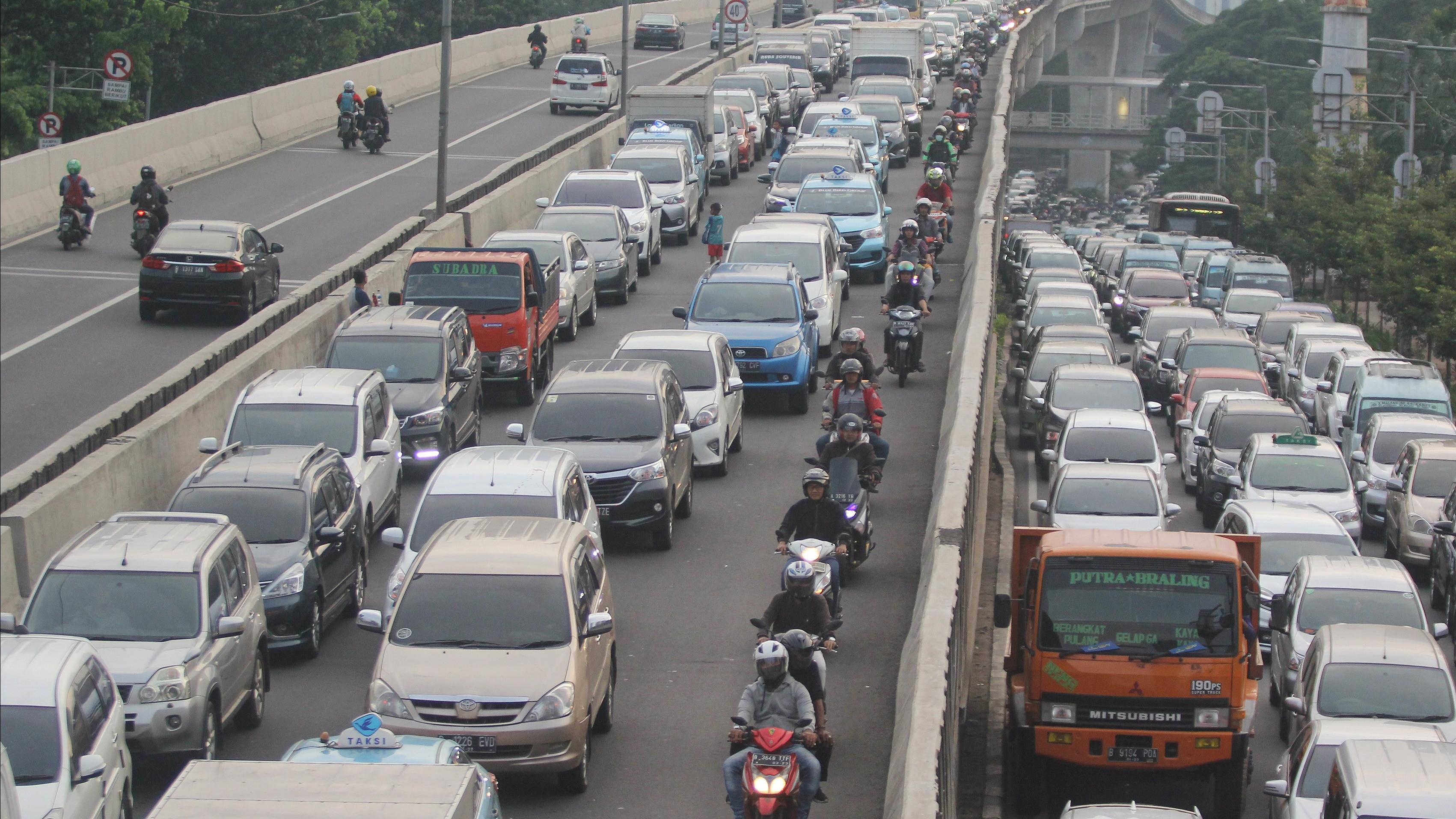 Jalanan macet di Jakarta