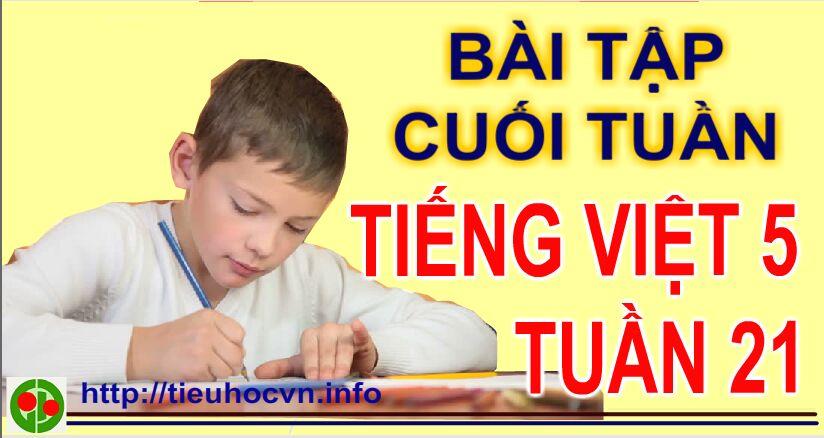 Bài tập cuối tuần Tiếng Việt 5 Tuần 21 | Tả một người mà em ấn tượng nhất.