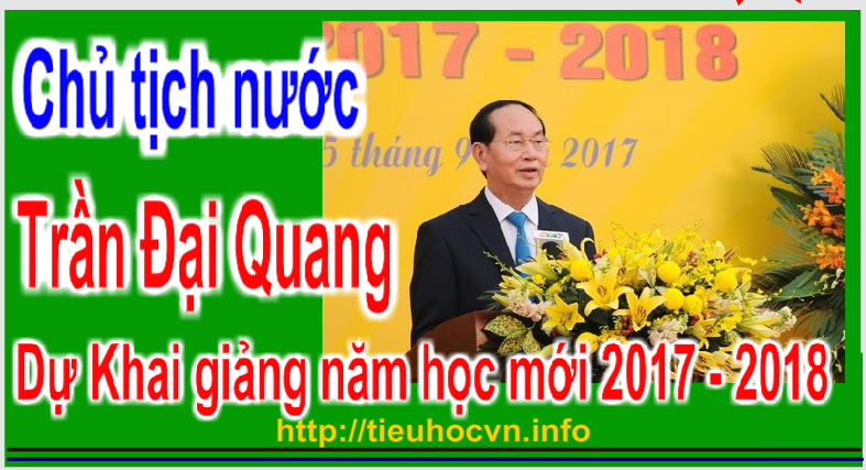 Chủ tịch nước Trần Đại Quang đến dự lễ khai giảng trường THCS Trưng Vương