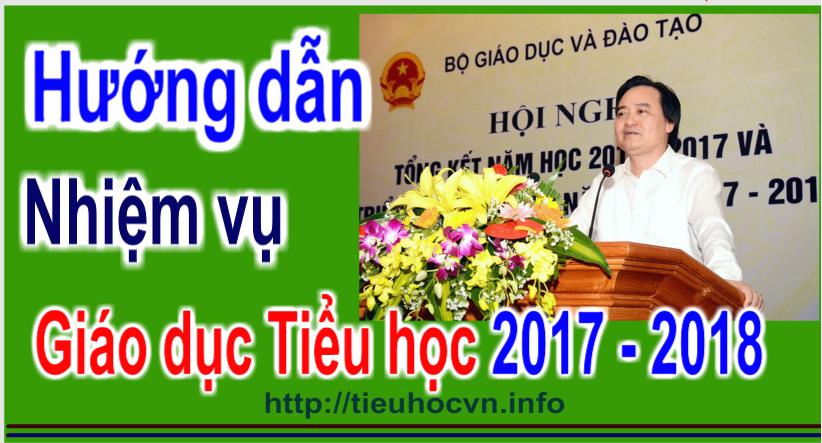 Hướng dẫn thực hiện nhiệm vụ năm hoc 2017-2018 cấp Tiểu học