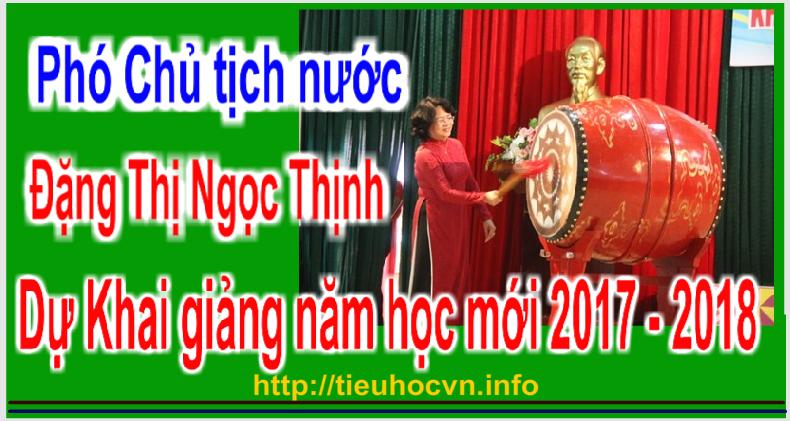 Phó Chủ tịch nước Đặng Thị Ngọc Thịnh dự Khai giảng tại Mường La