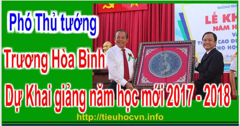 Phó Thủ tướng Trương Hòa Bình dự  khai giảng cho trường THPT Võ Văn Kiệt, TPHCM