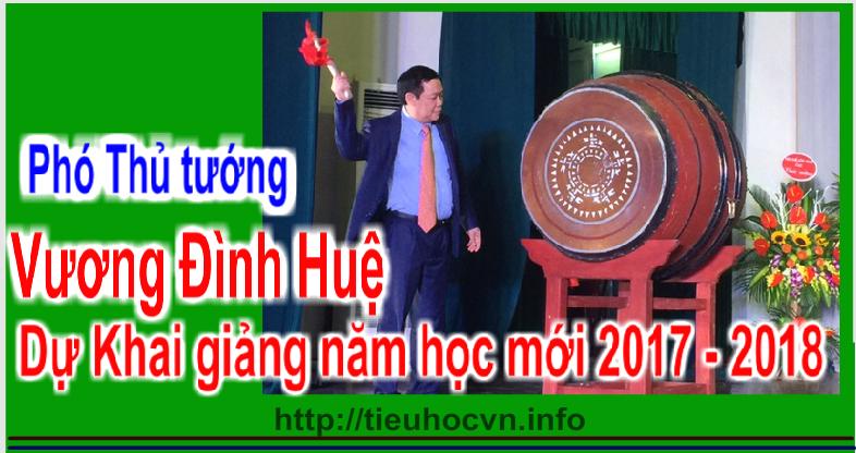 Phó Thủ tướng  Vương Đình Huệ, dự lễ khai giảng năm Trường TTHPT Chuyên Khoa học Tự nhiên thuộc Trường Đại học Khoa học Tự nhiên, Đại học Quốc gia Hà Nội.