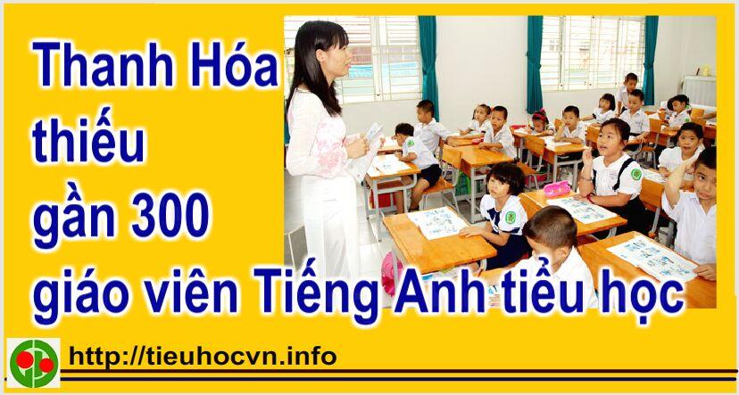 Thiếu gần 300 giáo viên tiếng Anh cấp Tiểu học ở Thanh Hóa