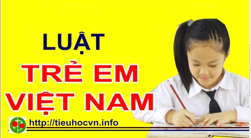 Luật trẻ em Việt Nam 2016