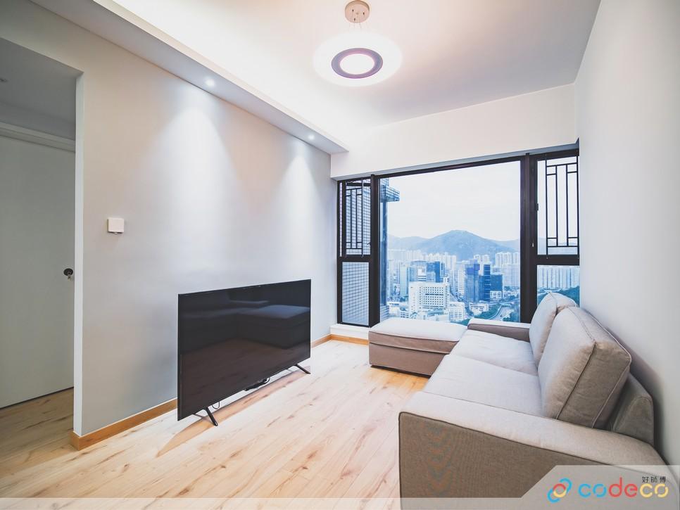 Minimalist interior design light colour