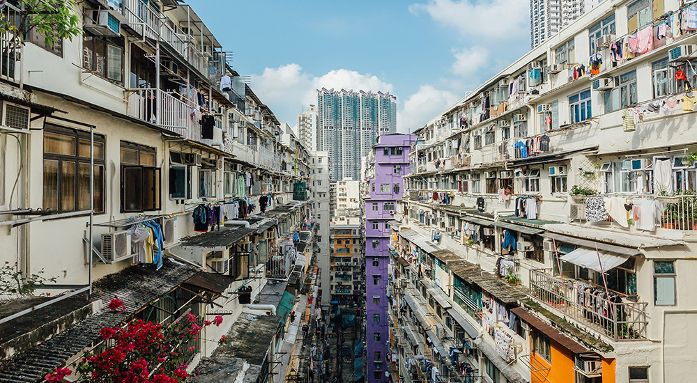 Housing unaffordability continues unabated in Hong Kong's uber-expensive property market. Image from okay.com