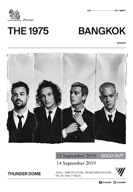 Ticketmelon - SINGHA CORPORATION PRESENTS THE 1975 LIVE IN BANGKOK