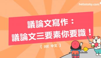 DSE中文, HelloToby, 中文補習, 學習進修, 引用論證, 正反論證, 舉例論證, 論據, 論證, 論證手法, 論證方法, 論點, 議論文, 議論文寫作技巧, 議論文結構
