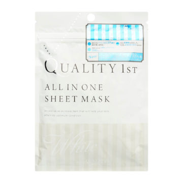 Quality First ALL IN ONE SHEET MASK WHITE EX (5pcs)