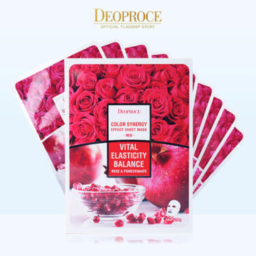 Deoproce Color Synergy Effect Sheet Mask – Red