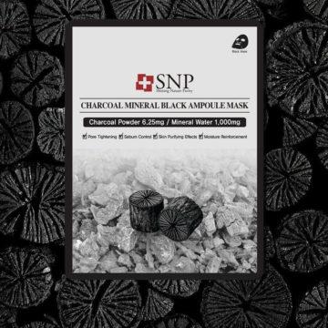 SNP Charcoal Mineral Black Ampoule Mask (10piece)