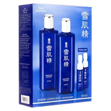 Kose Sekkisei Lotion Duo + Mini Emulsion Skincare Travel Set (4 pieces)