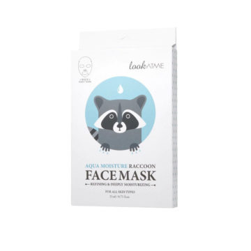 LOOK AT ME Aqua Moisture Raccoon Face Mask