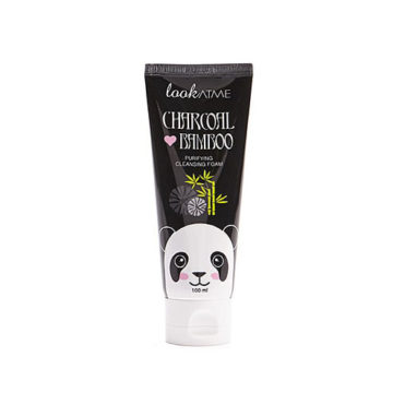 LOOK AT ME Charcoal Love Bamboo Purifying Cleansing Foam