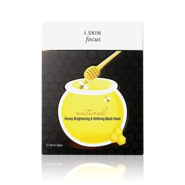 I. SKIN Focus Honey Brightening & Refining Black Mask (10 pcs)