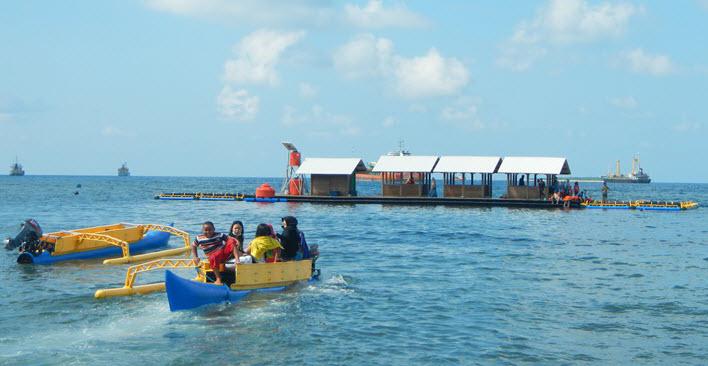 Wisata Bahari Bangsring yang memiliki keindahan wisata bawah air terpilih menjadi wisata yang akan mewakili Banyuwangi.