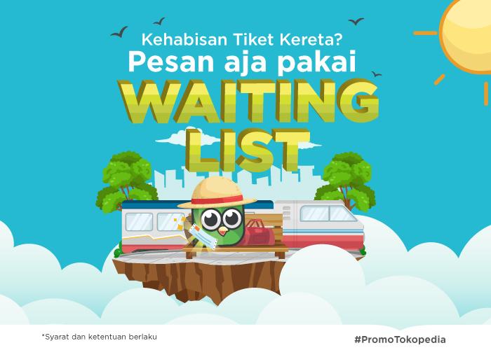 fitur waiting list tiket kereta