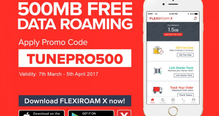 Tune protect flexiroam offer