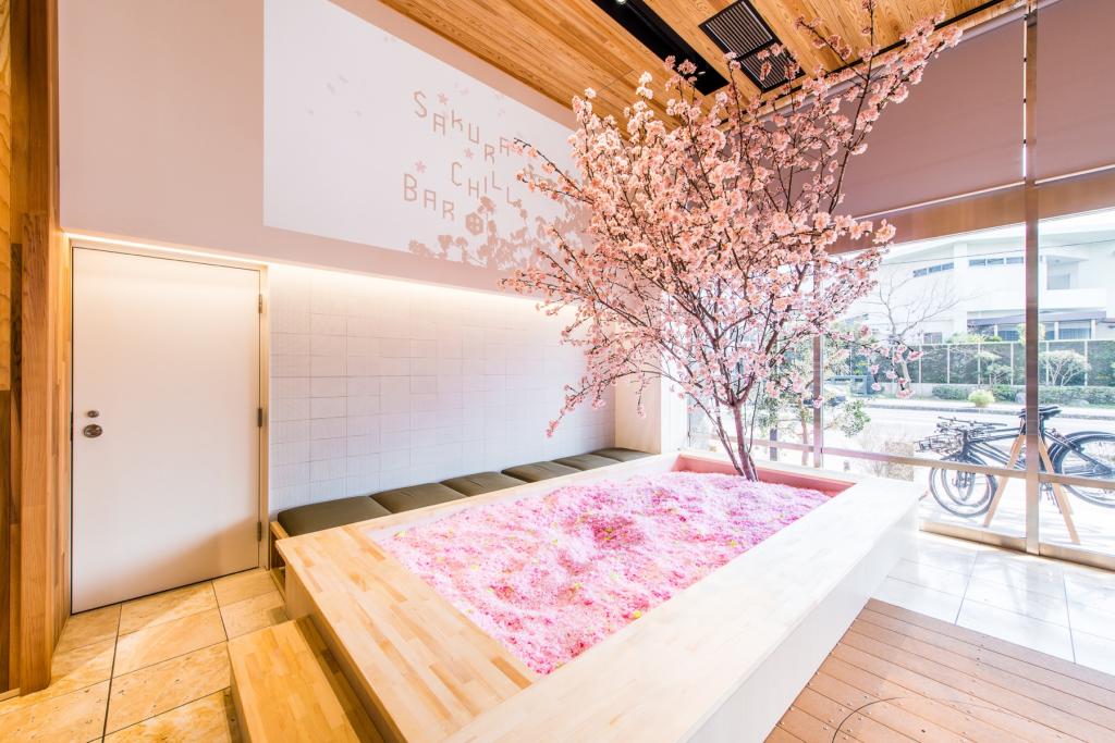 Pool of replica sakura petals