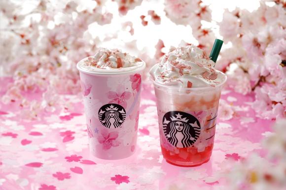 Starbucks Sakuraful Milk Latte and Sakuraful Frappuccino