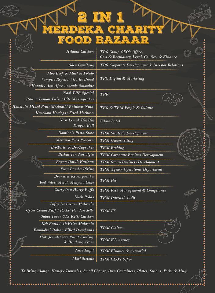 Merdeka Charity Food Bazaar 2019