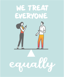 We treat everyone equally