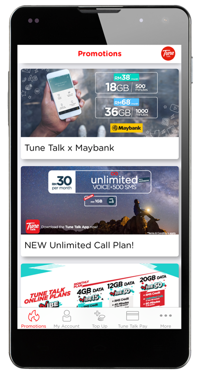 Tunetalk - Tune Talk Mobile App To Rule Them All l Download Now