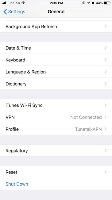 Tunetalk - Configure Your Device To Set Data Settings For