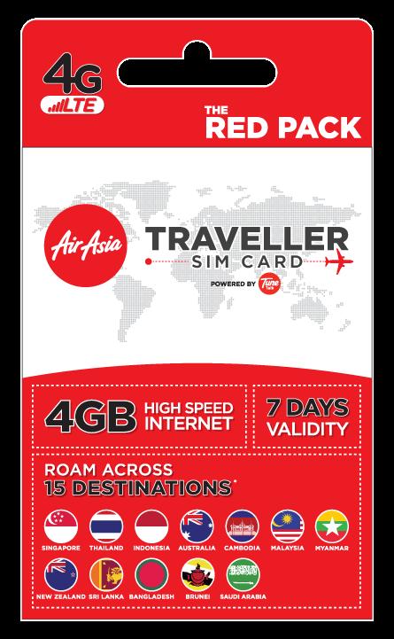 AirAsia Treveller Sim - Red Pack