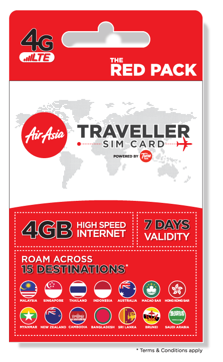 AirAsia Treveller Sim - Red Pack
