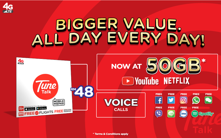 Tune Talk Tune Talk L Bigger Value Bigger Data Now At 50gb Data All Day Everyday