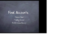 Final Accounts for XI and XII