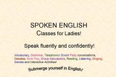 Speak English confidently and fluently! - Ladies special!
