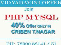 Best PHP MySQL Training in chennai