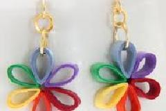 Quilling Jewellery - Beautiful Jewellery made from strips of paper !