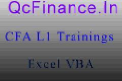 CFA L1 & Excel for Finance Worshop