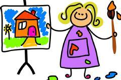 Weekend and Afternoon Drawing,Painting and Crafts work Classes for Kids