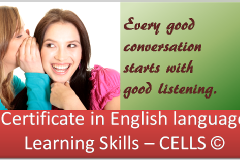 Certificate in English language Learning Skills