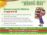 3 week Blast Off Summer Camp for Ages 5 to 10