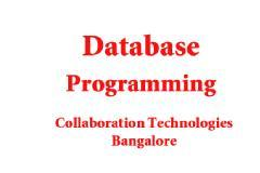 ORACLE DATABASE & PL / SQL WORKSHOP AND TRAINING ( 5 DAYS )