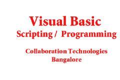 VISUAL BASIC TRAINING AND WORKSHOP ( 5 DAYS )