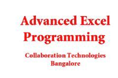 Microsoft Advanced Excel Programming