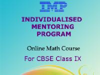 IMP - Individual Mentoring Program - For Class 9