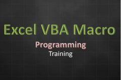 Excel Advanced ( VBA Macro Programming ) - Level 1