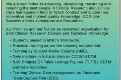 INSTITUTE FOR CLINICAL RESEARCH,CDM,CDISC SDTM,SAS COURSES