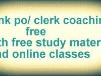 Free Bank PO coaching