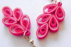 Paper quilling (jewellery and wall art) and craft paper wall art